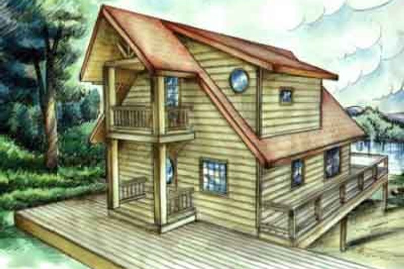 Modern Exterior - Front Elevation Plan #117-227