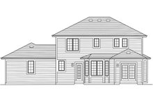 Home Plan - Traditional Exterior - Rear Elevation Plan #46-871