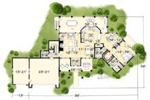 Country Floor Plan - Main Floor Plan Plan #942-24