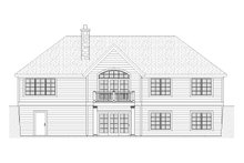 Ranch Exterior - Rear Elevation Plan #901-63