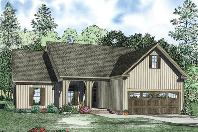 Traditional Style House Plan - 3 Beds 2 Baths 1622 Sq/Ft Plan #17-2379 Exterior - Front Elevation
