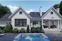 House Plan Design - Farmhouse Exterior - Rear Elevation Plan #120-262