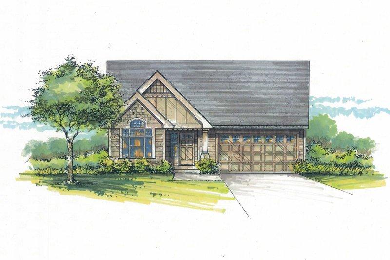 Craftsman Exterior - Front Elevation Plan #53-465