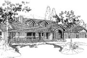 Ranch Style House Plan - 4 Beds 3 Baths 2474 Sq/Ft Plan #60-150 Exterior - Front Elevation