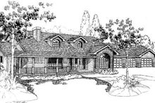 Ranch Exterior - Front Elevation Plan #60-150