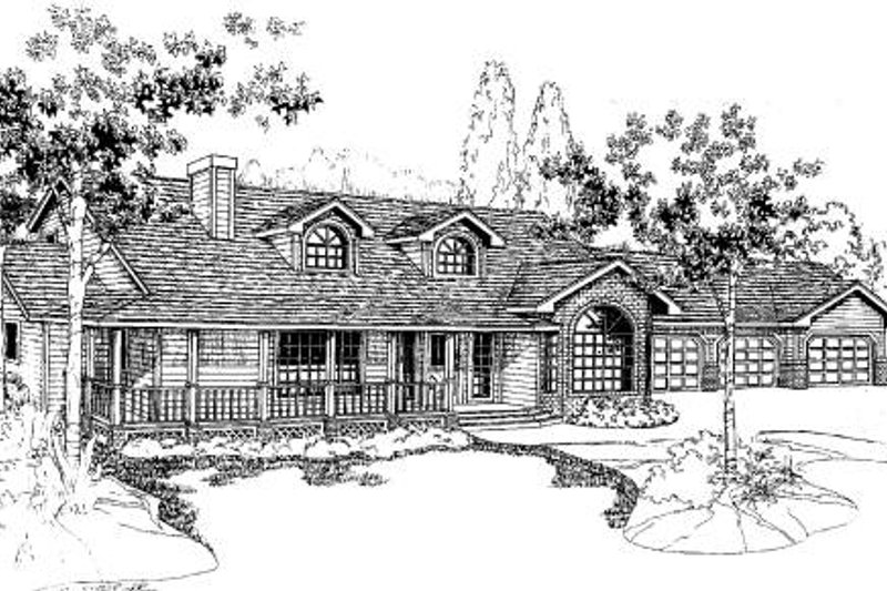 Ranch Exterior - Front Elevation Plan #60-150 - Houseplans.com