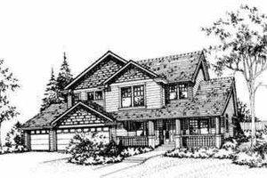 Craftsman Exterior - Front Elevation Plan #78-122