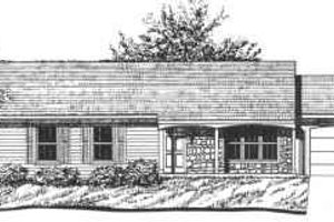 Ranch Exterior - Front Elevation Plan #30-111