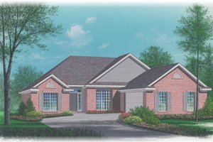 Colonial Exterior - Front Elevation Plan #15-107