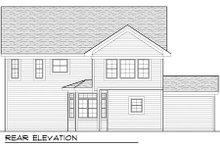 Country Exterior - Rear Elevation Plan #70-989