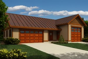 Architectural House Design - Country Exterior - Front Elevation Plan #118-138