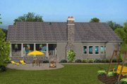 Craftsman Style House Plan - 4 Beds 3 Baths 2234 Sq/Ft Plan #56-713 Exterior - Rear Elevation