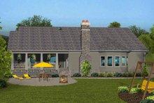 House Plan Design - Craftsman Exterior - Rear Elevation Plan #56-713