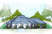 Southern Style House Plan - 4 Beds 2.5 Baths 2240 Sq/Ft Plan #36-485 Exterior - Front Elevation