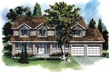 Home Plan - Traditional Exterior - Front Elevation Plan #18-225