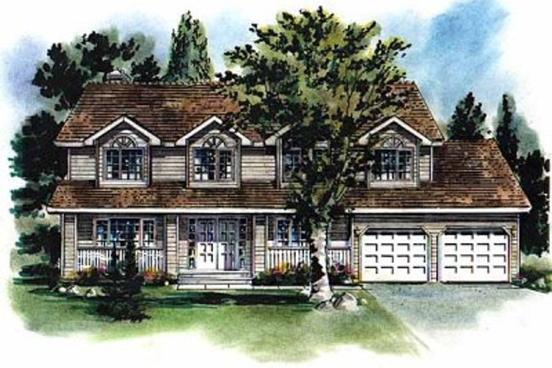 Traditional Style House Plan - 4 Beds 3 Baths 2787 Sq/Ft Plan #18-225 Exterior - Front Elevation