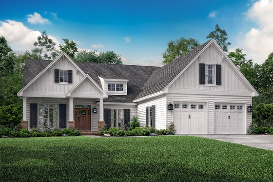 Craftsman Exterior - Front Elevation Plan #430-140