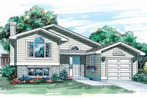 Contemporary Exterior - Front Elevation Plan #47-778