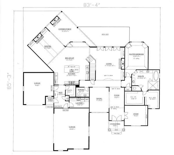 House Design - Traditional Floor Plan - Main Floor Plan #437-86