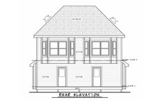 House Plan Design - Traditional Exterior - Rear Elevation Plan #20-2465