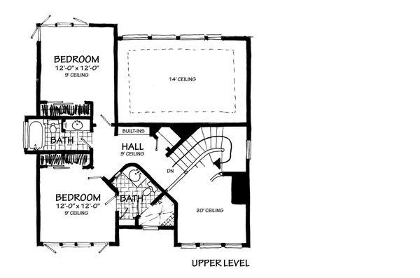 Contemporary Floor Plan - Upper Floor Plan #942-55