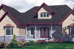 Farmhouse Exterior - Front Elevation Plan #138-293