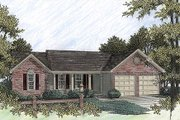 Traditional Style House Plan - 3 Beds 2 Baths 1197 Sq/Ft Plan #56-107