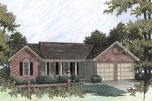 Architectural House Design - Traditional Exterior - Front Elevation Plan #56-107