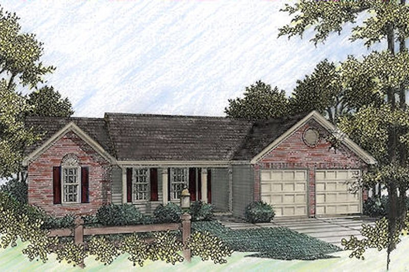 Home Plan Design - Traditional Exterior - Front Elevation Plan #56-107