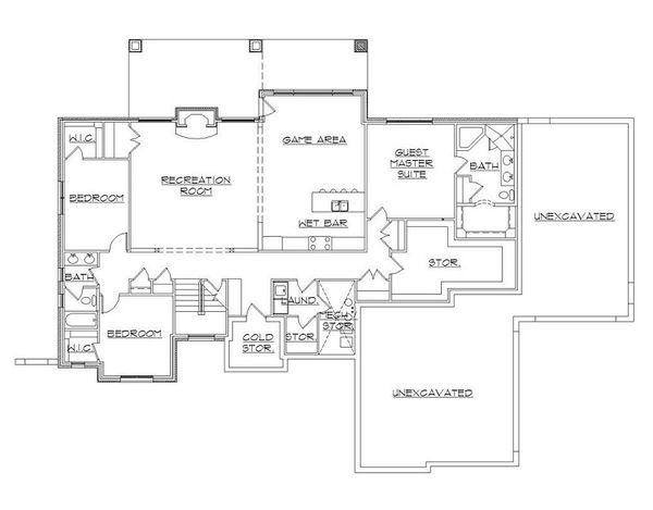European Floor Plan - Lower Floor Plan #5-394