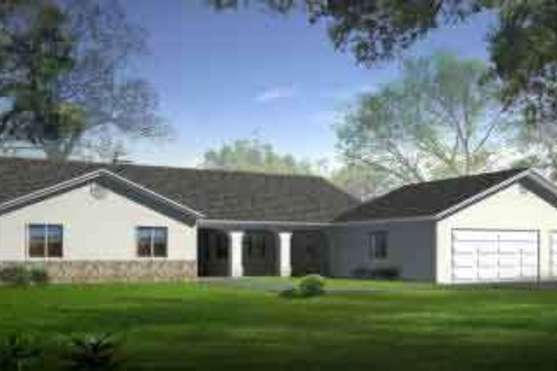 Traditional Style House Plan - 3 Beds 2 Baths 2501 Sq/Ft Plan #1-1468 Exterior - Front Elevation