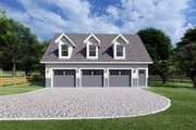 Traditional Style House Plan - 2 Beds 1.5 Baths 1032 Sq/Ft Plan #126-162 Exterior - Front Elevation