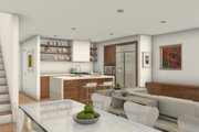 Modern Style House Plan - 4 Beds 3 Baths 1840 Sq/Ft Plan #497-36