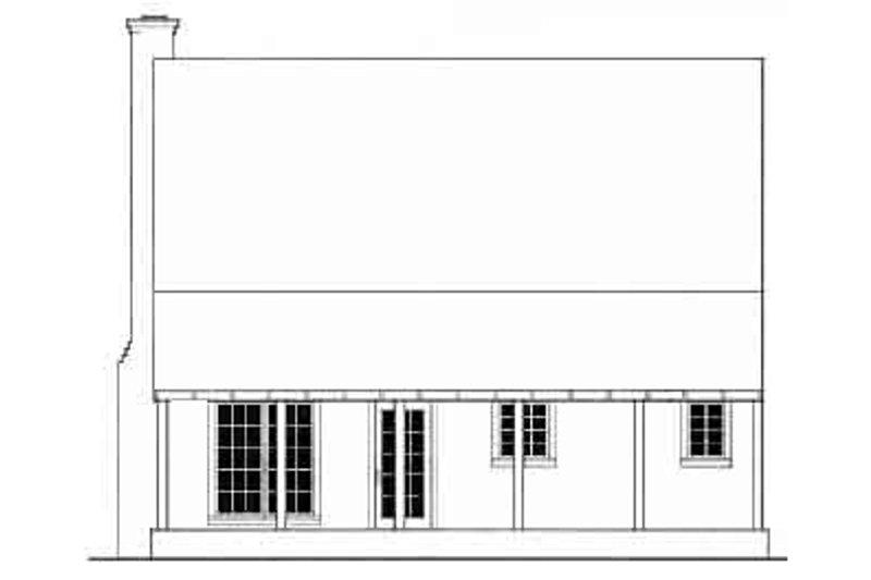 Farmhouse Exterior - Rear Elevation Plan #406-153 - Houseplans.com