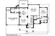 Craftsman Style House Plan - 4 Beds 3.5 Baths 2486 Sq/Ft Plan #70-1249 Floor Plan - Main Floor Plan