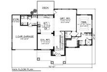 Craftsman Floor Plan - Main Floor Plan Plan #70-1249