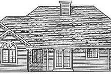 Dream House Plan - Traditional Exterior - Rear Elevation Plan #70-199