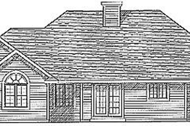 Traditional Exterior - Rear Elevation Plan #70-199 - Houseplans.com