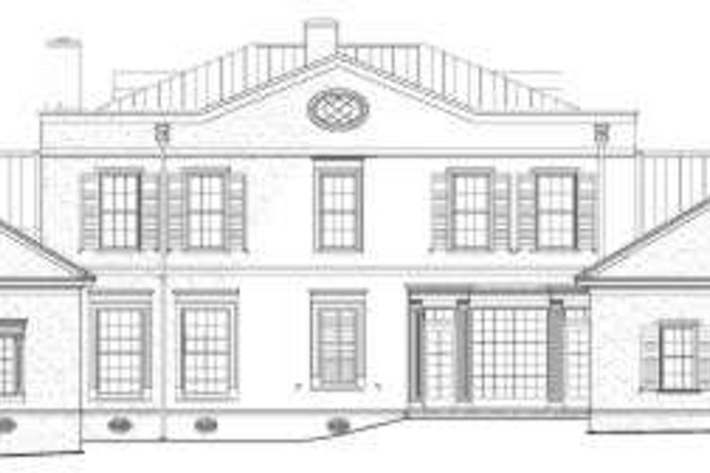Southern Exterior - Rear Elevation Plan #137-159 - Houseplans.com