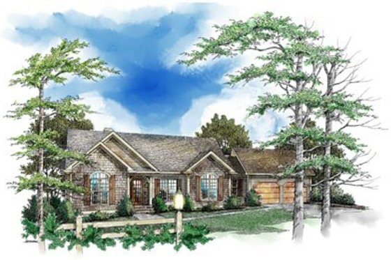 Traditional Exterior - Front Elevation Plan #71-105