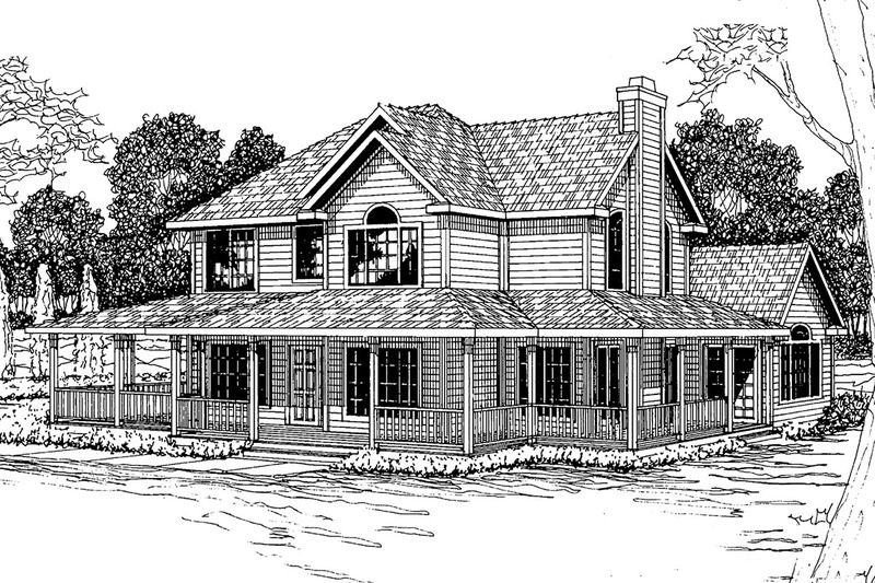 Country Exterior - Front Elevation Plan #124-285