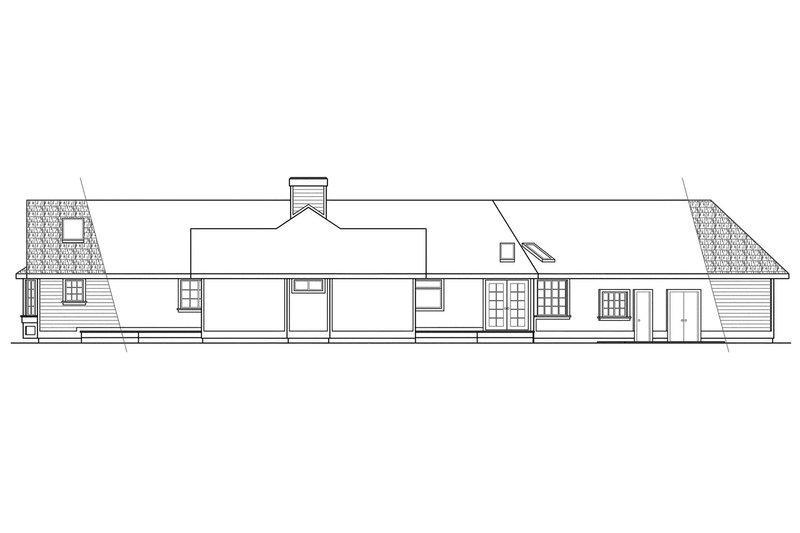 Modern Exterior - Rear Elevation Plan #124-123 - Houseplans.com