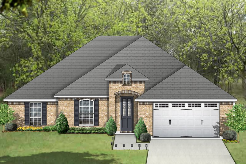 Traditional Exterior - Front Elevation Plan #84-605 - Houseplans.com