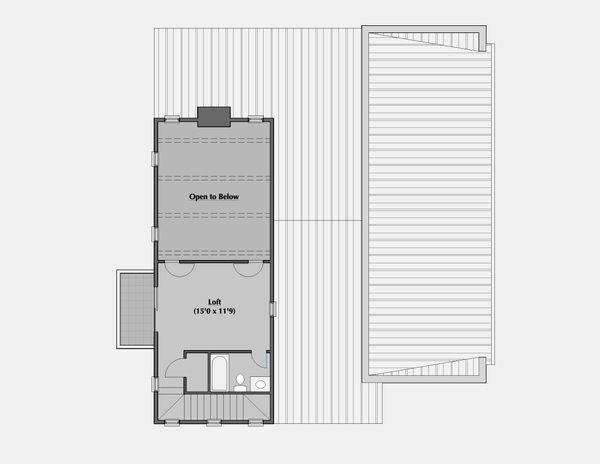 Modern Floor Plan - Upper Floor Plan Plan #531-5