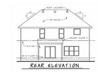 House Plan Design - Bungalow Exterior - Rear Elevation Plan #20-1770