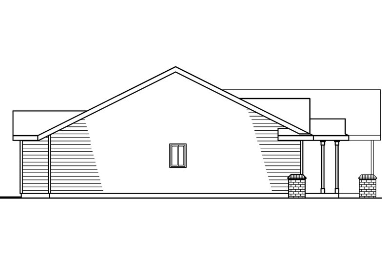 Ranch Exterior - Other Elevation Plan #124-379 - Houseplans.com