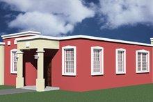 Dream House Plan - Exterior - Rear Elevation Plan #495-2