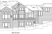 Traditional Style House Plan - 5 Beds 4.5 Baths 4271 Sq/Ft Plan #100-453 Exterior - Rear Elevation
