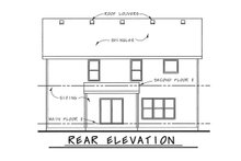 Dream House Plan - Traditional Exterior - Rear Elevation Plan #20-1769