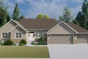 Traditional Style House Plan - 3 Beds 2.5 Baths 2199 Sq/Ft Plan #1060-100 Exterior - Front Elevation